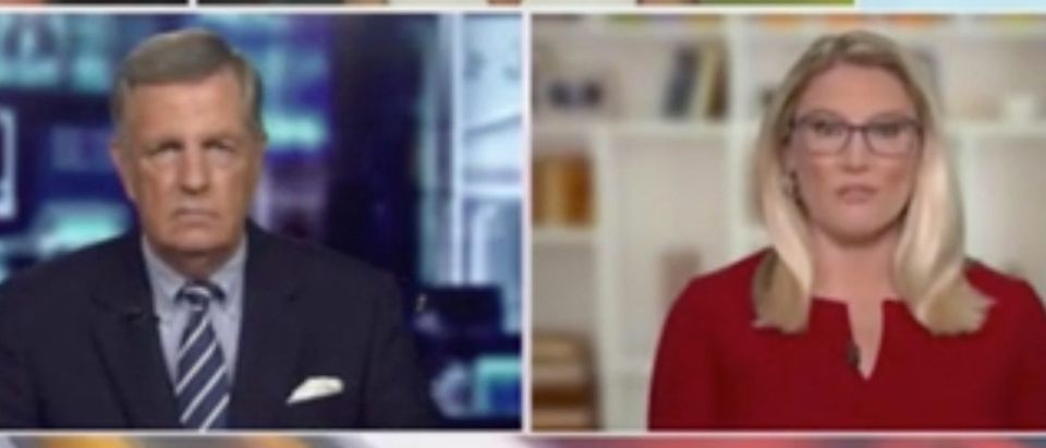 """Brit Hume and Marie Harf appear on """"Outnumbered."""" Screenshot/Fox News"""