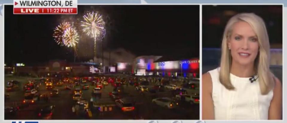 Fox News anchors praised Joe Biden for his DNC speech Thursday evening. (Screenshot Fox News)