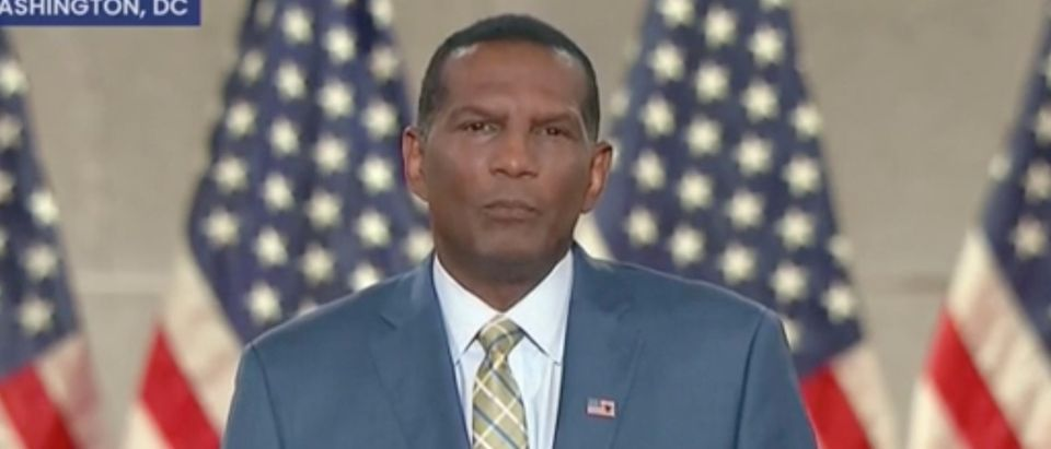 Burgess Owens addresses the Republican National Convention. Screenshot/C-Span