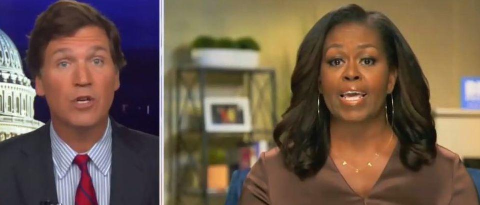 Tucker Carlson blasts Michelle Obama (Fox News screengrab)