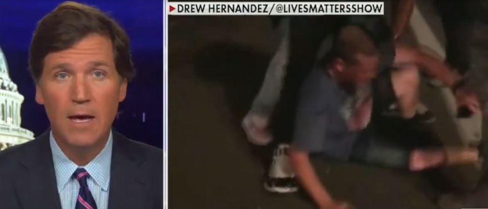 Tucker Carlson puts DOJ on blast (Fox News screengrab)