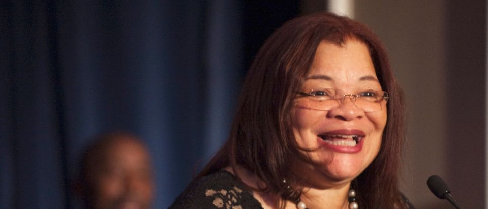 """Alveda King, founder of Alveda King Ministries, speaks during an """"I Have a Dream"""" gospel brunch at the Willard InterContinental Hotel in Washington"""