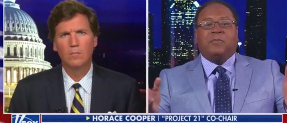 Tucker Carlson, Horace Cooper