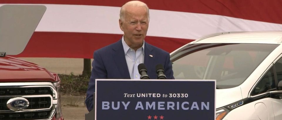 Joe Biden. (Screenshot/Youtube)