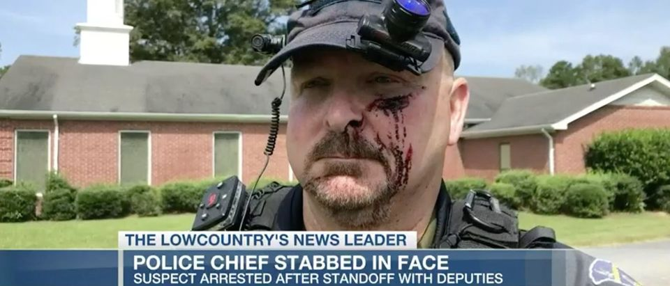 South Carolina police chief stabbed/LIVE 5 via video screenshot
