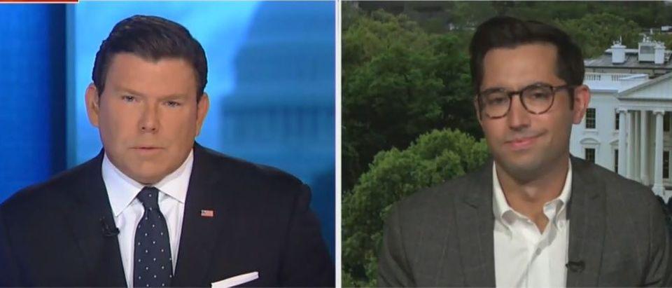 Bret Baier grills Biden advisor (Fox News screengrab)