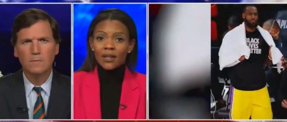 Candace Owens blames violence on left's rhetoric (Fox News screengrab)