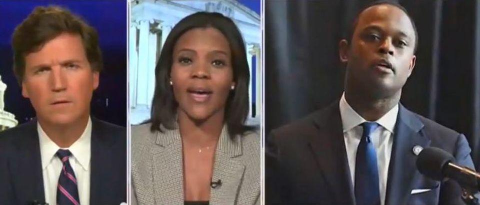 Candace Owens defends Daniel Cameron (Fox News screengrab)
