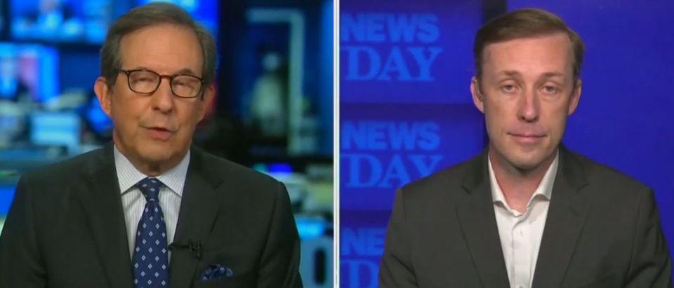 Chris Wallace presses Jake Sullivan on travel ban (Fox News screengrab)
