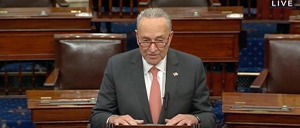 Senate Minority Leader Chuck Schumer speaks on Senate floor, Sept. 22, 2020. (YouTube screen capture/Sen. Marco Rubio)