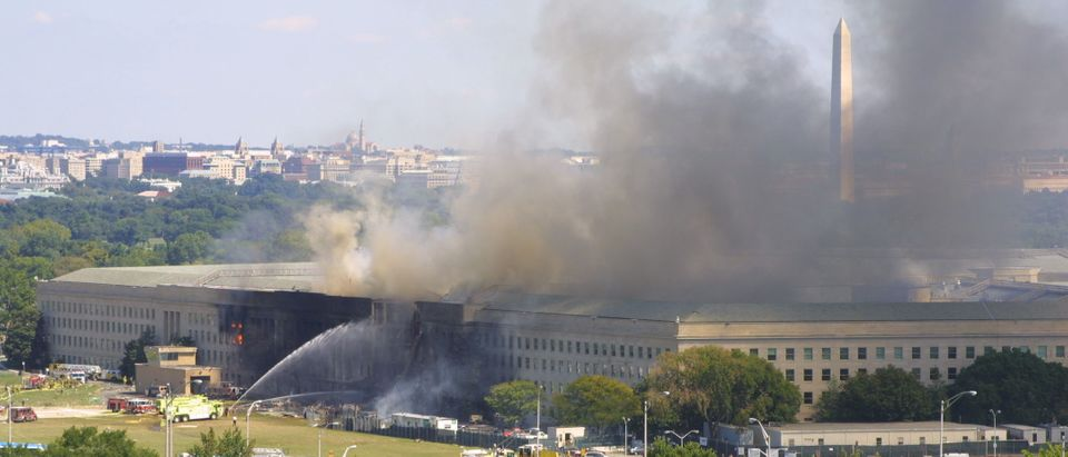 A plane crashed into the Pentagon