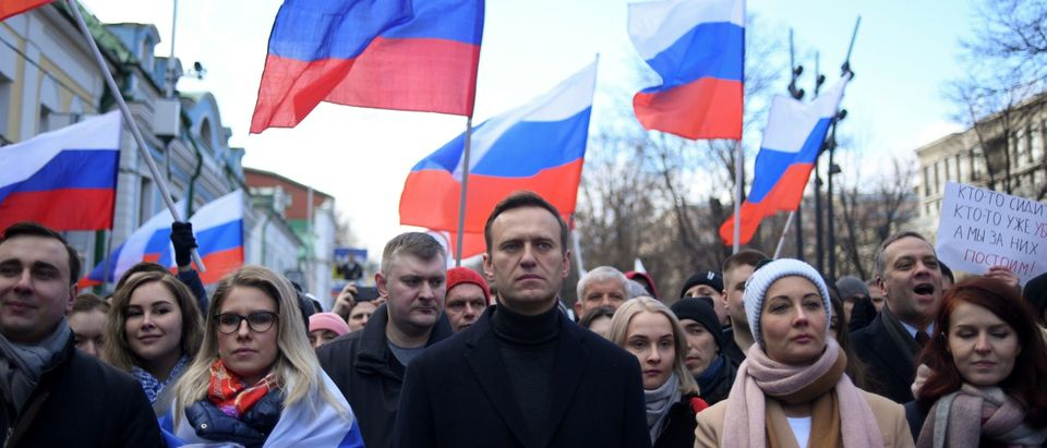 Alexei Nevalny Attends Protest March