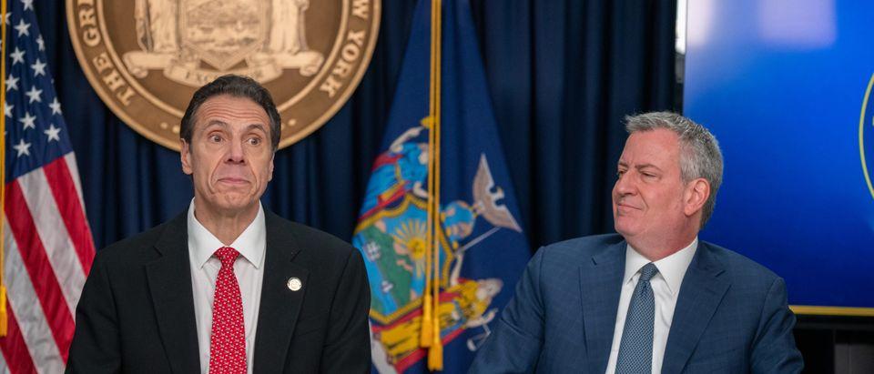 NY Gov. Cuomo And NYC Mayor De Blasio