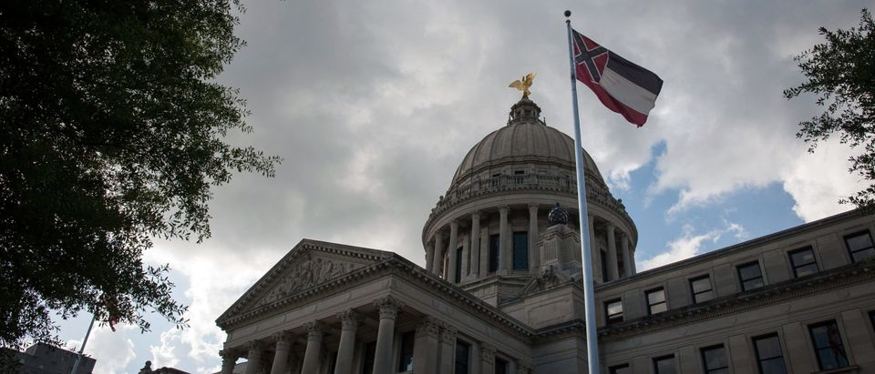 Missisippi's Old Flag Flies Over State Capitol