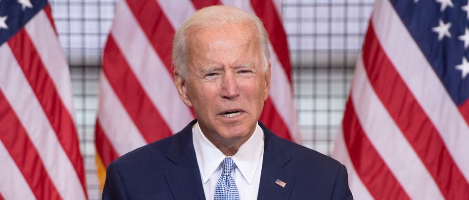 Former US Vice President Joe Biden Speaks During A Campaign Event In Pittsburgh