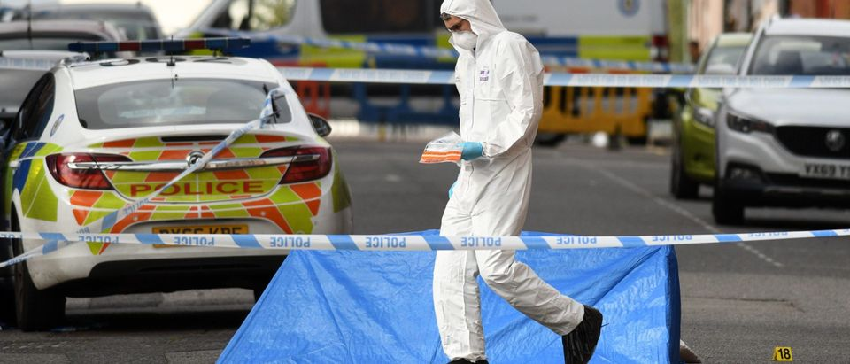 UK Police Forensics Investigate Stabbing Spree In Birmingham