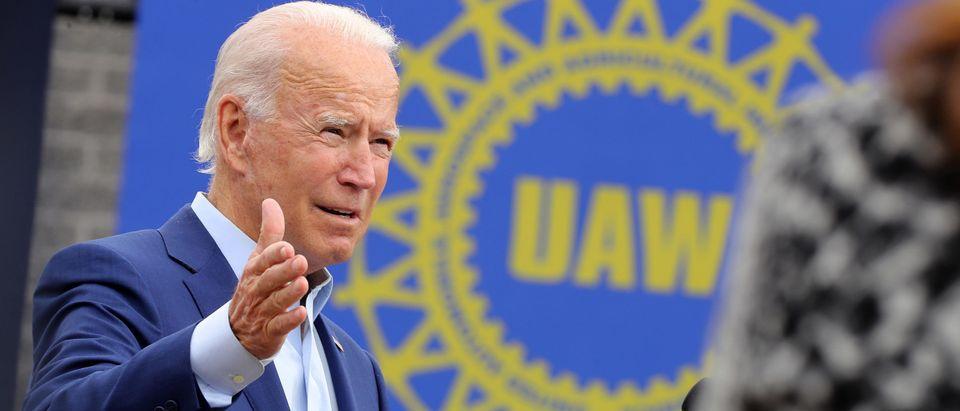 Joe Biden Campaigns In Warren, Michigan