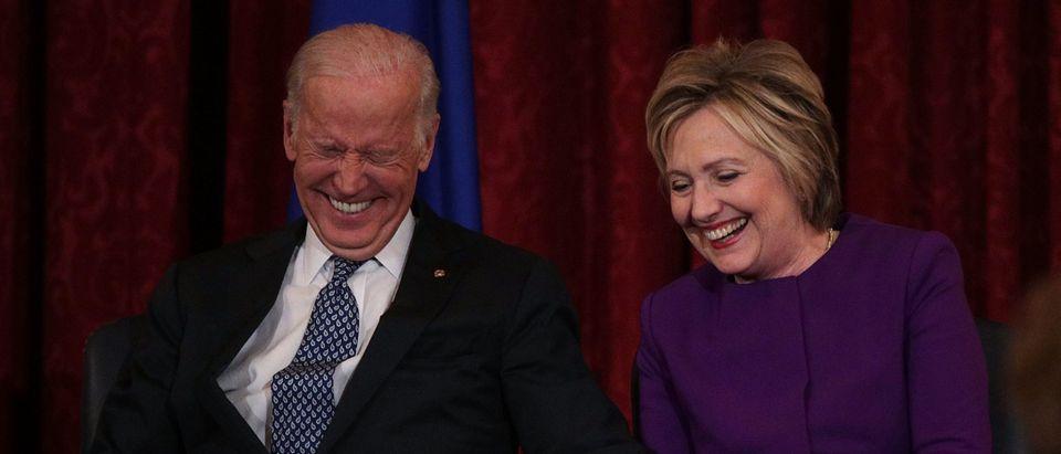 Hillary Clinton And VP Biden Attend Portrait Unveiling For Senate Democratic Leader Harry Reid