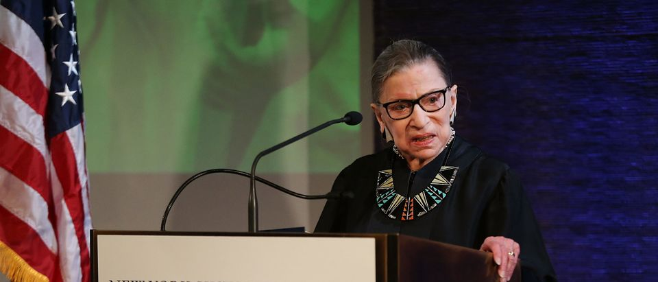 Ruth Bader Ginsburg Delivers Oath Of Allegiance At Naturalization Ceremony