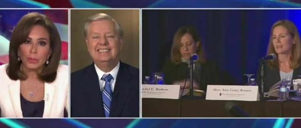 Graham reacts to question about Democrats not showing up (Fox News screengrab)