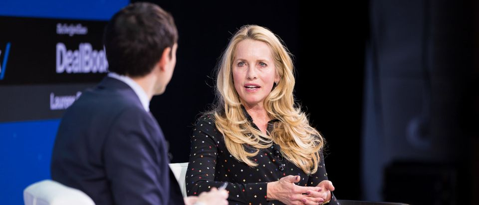 NEW YORK, NY - NOVEMBER 09: Andrew Ross Sorkin and Laurene Powell Jobs speak onstage during The New York Times 2017 DealBook Conference at Jazz at Lincoln Center on November 9, 2017 in New York City. (Photo by Michael Cohen/Getty Images for The New York Times)