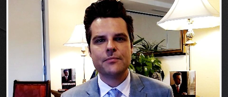 Rep. Matt Gaetz speaks with the Daily Caller