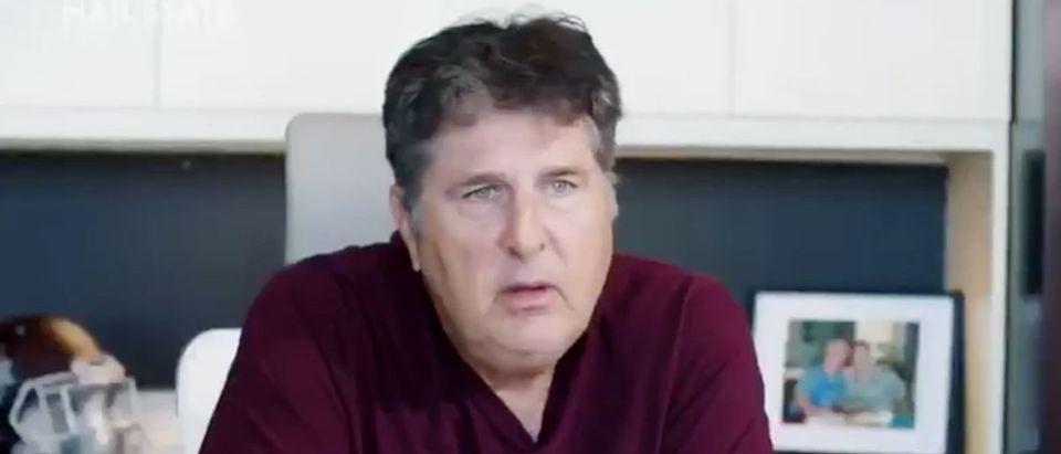 Mike Leach (Credit: Screenshot/Twitter Video https://twitter.com/Coach_Leach/status/1304129594040242182)