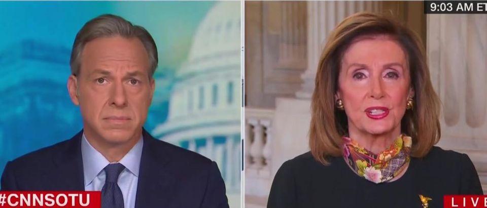 Nancy Pelosi sees no 'equivalence' in Garland, Barrett picks (CNN screengrabs)