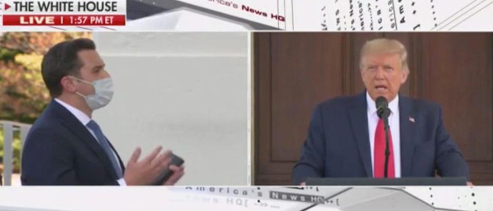 President Trump takes question from Fox News reporter David Spunt. Screenshot/Fox News