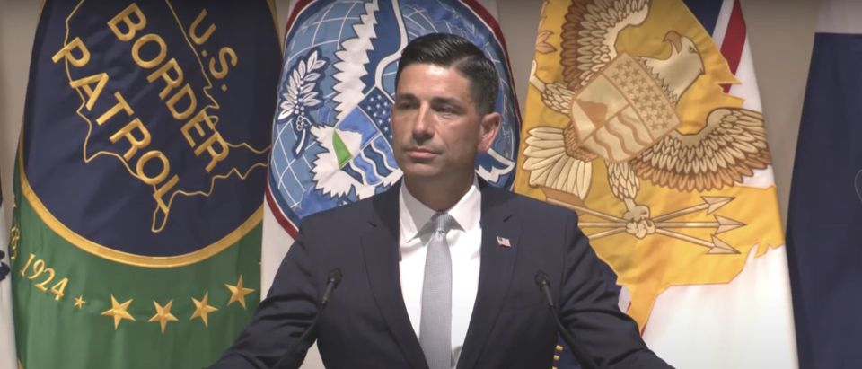 Acting Secretary Chad Wolf delivers the 2020 State of the Homeland address from Hitchcock Hall at DHS Headquarters in Washington, DC.