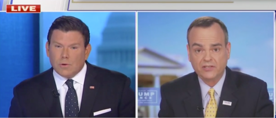 Bret Baier called out Tim Murtaugh over Trump and the Woodward tapes Thursday. (Screenshot Fox News, Special Report with Bret Baier)