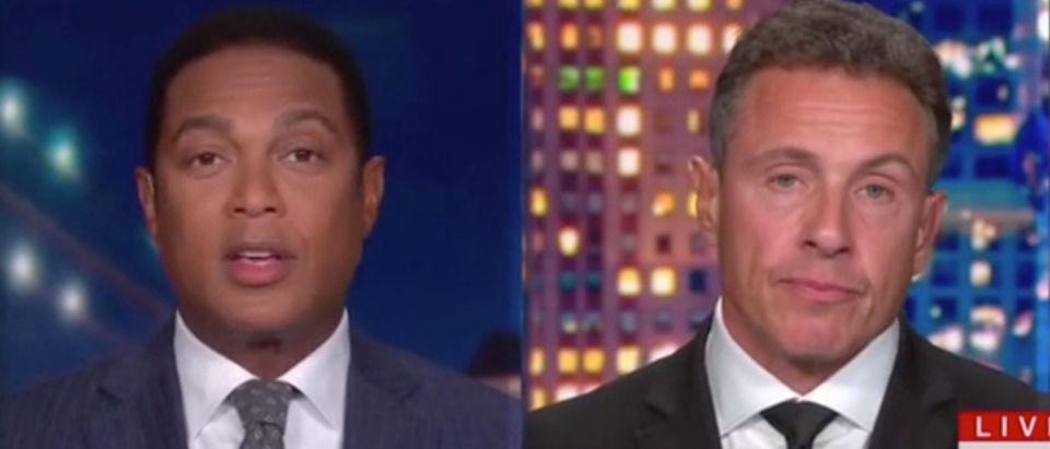 "Don Lemon and Chris Cuomo appear on ""CNN Tonight."" Screenshot/CNN"