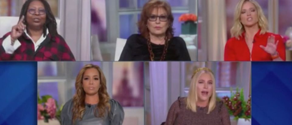 """The View"" panel discussion gets heated over replacements for Supreme Court Justice Ruth Bader Ginsburg. Screenshot/ABC"