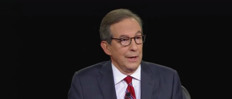 Donald Trump slammed Chris Wallace minutes into Tuesday's debate. (Screenshot Fox News)