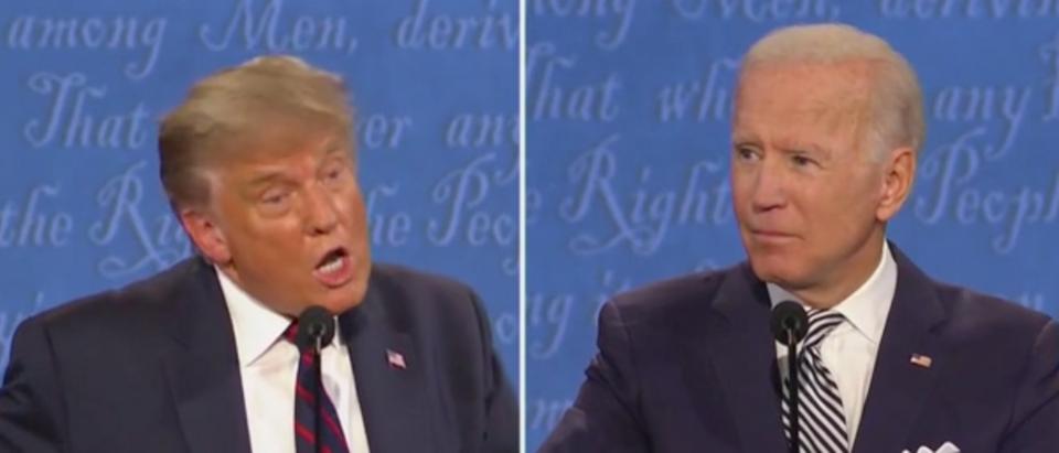 Trump slammed Biden's intelligence during Tuesday's debate. (Screenshot Fox News)