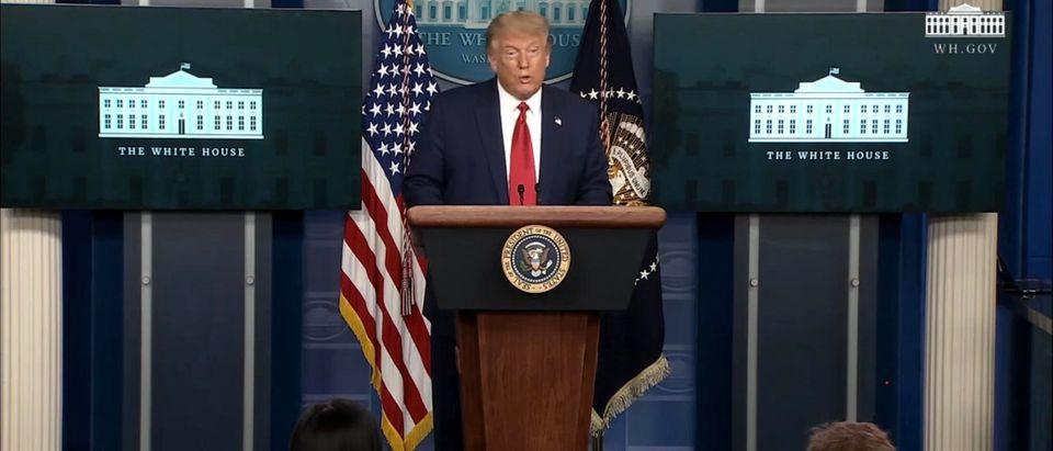 President Donald Trump. (Screenshot/YouTube/White House)