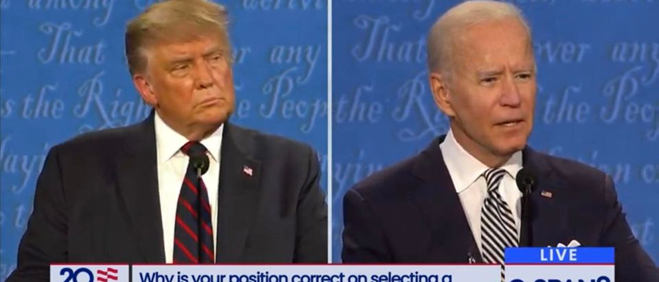 President Trump and Joe Biden debate. (Screenshot/YouTube/CSPAN)
