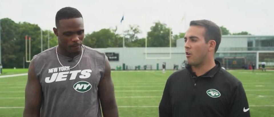 New York Jets wide receiver Joshua Bellamy (YouTube screen capture/New York Jets)