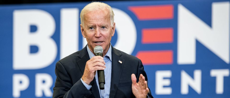 Democratic presidential candidate and former US Vice President Joe Biden addresses a crowd at a town hall event at Clinton College on August 29, 2019 in Rock Hill, South Carolina. Biden spent Wednesday and Thursday campaigning in the early primary state. (Photo by Sean Rayford/Getty Images)