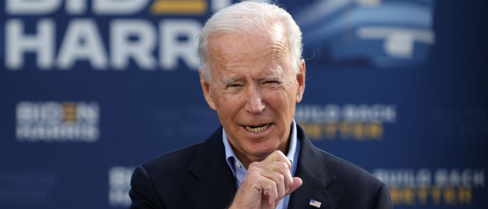 Democratic Presidential Nominee Joe Biden Holds Train Campaign Tour Of OH And PA