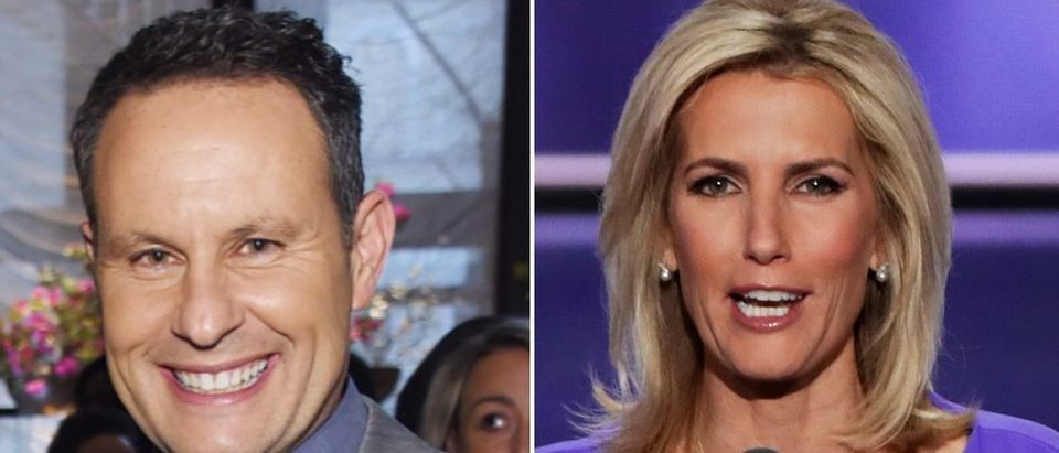 Fox News hosts went after Chris Wallace after Tuesday's debate. (Jamie McCarthy/Getty Images for THR, Alex Wong/Getty Images)