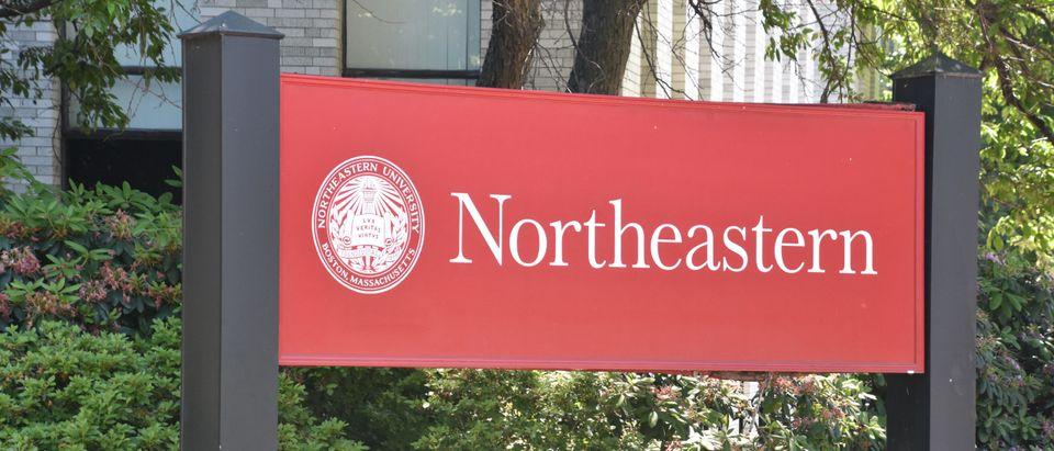 Northeastern University Campus Sign