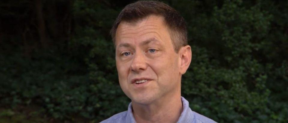 "Former FBI deputy chief of counterintelligence Peter Strzok speaks in an interview on ""CBS Sunday Morning"" (YouTube screen capture/CBS Sunday Morning)"