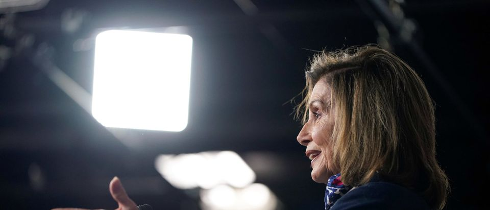 Speaker of the House Nancy Pelosi (D-CA) speaks to the media on Capitol Hill in Washington