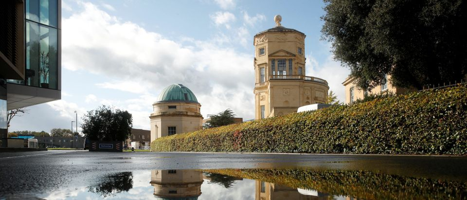 General view shows Radcliffe Observatory Quarter, Mathematical Institute at the University of Oxford