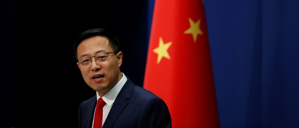 Chinese Foreign Ministry spokesman Zhao Lijian attends a news conference in Beijing, China September 10, 2020. REUTERS/Carlos Garcia Rawlins
