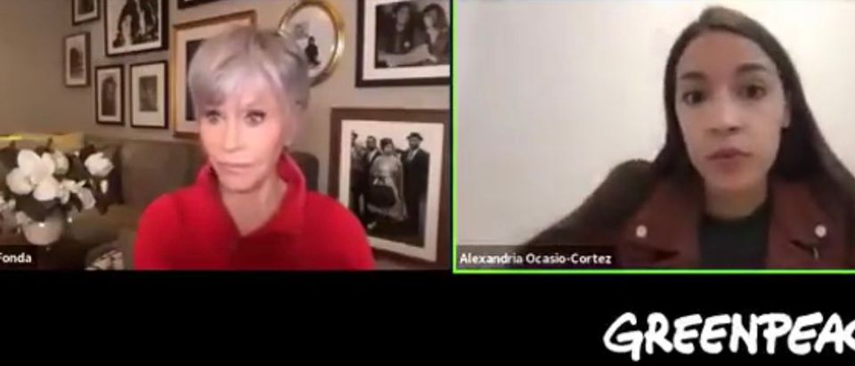 Jane Fonda and Rep. Alexandria Ocasio-Cortez (D-NY)