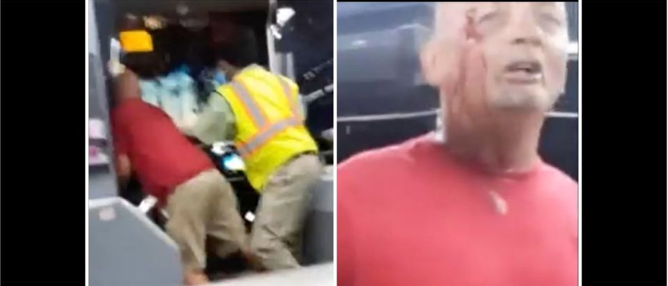 Bus Fight (Credit: Screenshot/Twitter Video https://www.tmz.com/2020/10/16/bus-driver-throws-blows-against-unruly-passenger-caught-on-video/)
