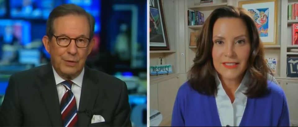 Chris Wallace presses Gretchen Whitmer about Biden business dealings (Fox News screengrab)
