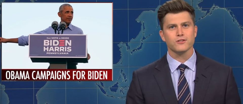 Colin Jost pokes fun at candidate ages (YouTube screengrab)